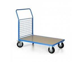 Plošinový vozík s mřížkovaným madlem, 1200x800 mm