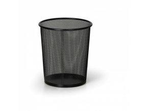 Drátěný odpadkový koš na papíry, 12 litrů, černý