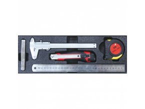 Sada měřících nástrojů, 5 ks - vložka do zásuvky EXPERT
