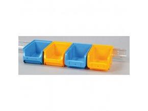 Ocelová lišta pro zavěšení plastových boxů