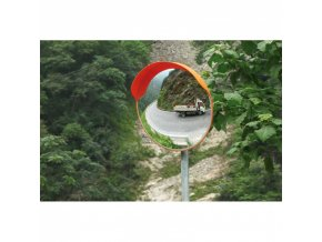 Dohledové zrcadlo se zrcadlovou plochou z nerezu, průměr 600 mm