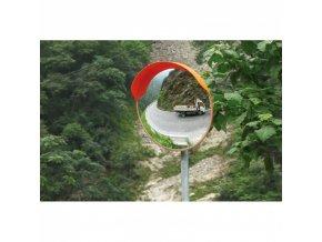 Dohledové zrcadlo se zrcadlovou plochou z nerezu, průměr 800 mm