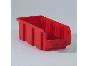 Plastový box COMPACT, 102 x 215 x 75 mm, červený