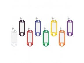 Klíčové závěsy, 100 ks, mix barev