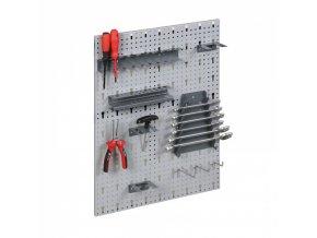 Sada háčků a držáků na nářadí pro závěsné panely a skříňky HOBBY III, 22 ks