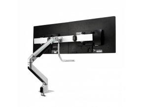 Držák monitoru dvouramenný za desku stolu 2x monitor