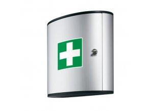Hliníková nástěnná lékárnička s náplní DIN 13157