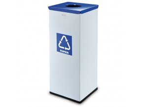Koš na tříděný odpad 90 L, šedý/modrý