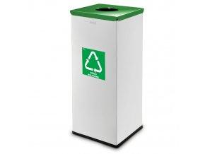 Koš na tříděný odpad 90 L, šedý/zelený