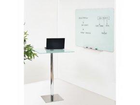 Skleněná magnetická tabule, bílá 120x150 cm