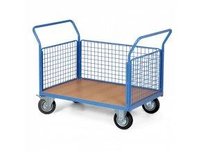 Plošinový vozík se stěnami, 1000 x 700 mm