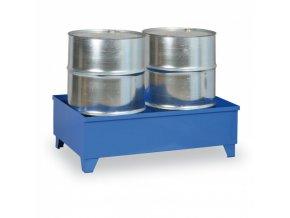 Záchytná vana na nohách pro 2 sudy, objem 240 L, modrá