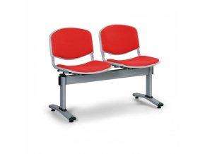 Čalouněné lavice do čekáren, 2-sedák, červená