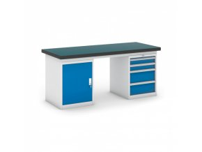 Dílenský stůl GB se skříňkou a zásuvkovým kontejnerem, 1800 mm