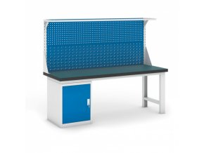 Dílenský stůl GB se skříňkou a nástavbou, 2100 mm