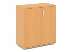 Dvoudveřová policová kancelářská skříň EXPRESS, 740 x 372 x 800 mm, bříza