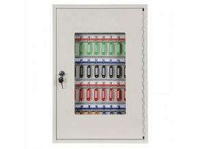 Kovová skříňka na klíče 55 x 38 x 8 cm, 50 ks