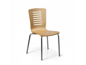 Dřevěná jídelní židle LINES, přírodní, balení 4 ks