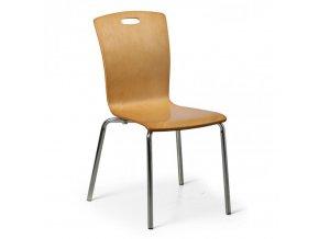 Dřevěná jídelní židle RITA, přírodní, balení 4 ks
