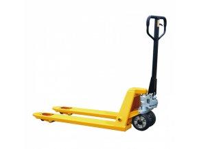 Paletový vozík s délkou vidlic 800 mm, nosnost 2000 kg, pryžová kola