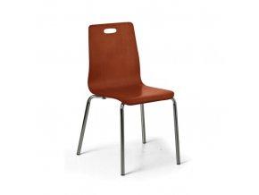 Dřevěná jídelní židle BETTY, ořech, balení 4 ks