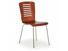 Dřevěná jídelní židle LINES, ořech, balení 4 ks