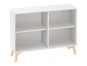 Kancelářská skříň bez dveří ROOT 1200 x 450 x 887 mm, bílá