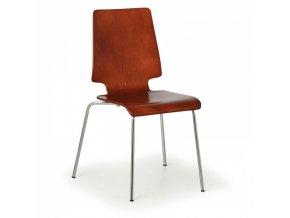 Dřevěná židle TORONTO, přírodní - nosnost 120 kg, 4 ks