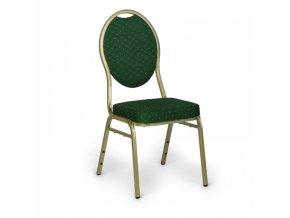Čalouněná banketová židle, zelená