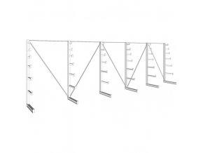Konzolový regál stromečkový, jednostranný, 150 kg, 2000 x 6750 x 590 mm