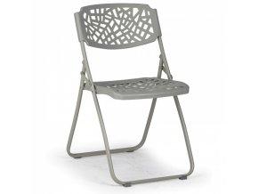 Skládací židle Metric, šedá