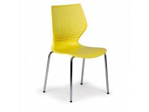 Jídelní židle Poly, žlutá