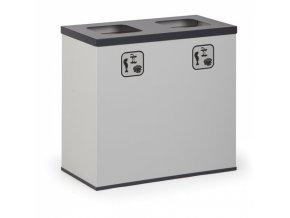 Koš na tříděný odpad 2x 42 L s vnitřní nádobou