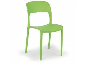 Designová plastová jídelní židle REFRESCO, zelená