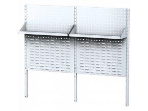 Stolová nástavba pro stoly MECHANIC II s panely na nářadí, boxy, policemi, délka 1500 mm