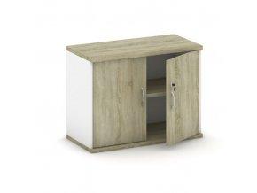 Nástavba 2-dveřová, bílá/dub sonoma, 800 x 400 x 600