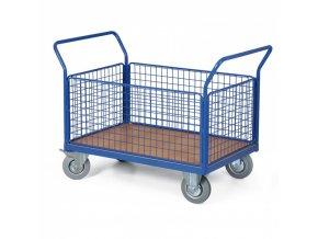 Plošinový vozík - 4 drátěné výplně, 1000x700 mm, 300 kg