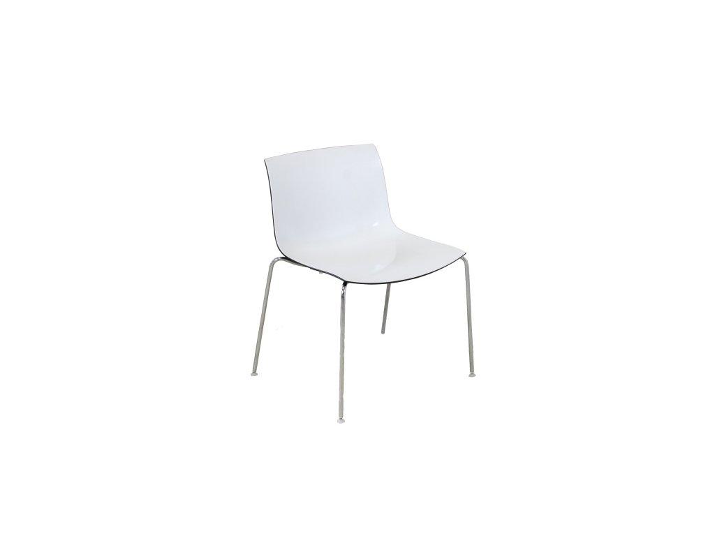 Židle konferenční Arper bílá/černá