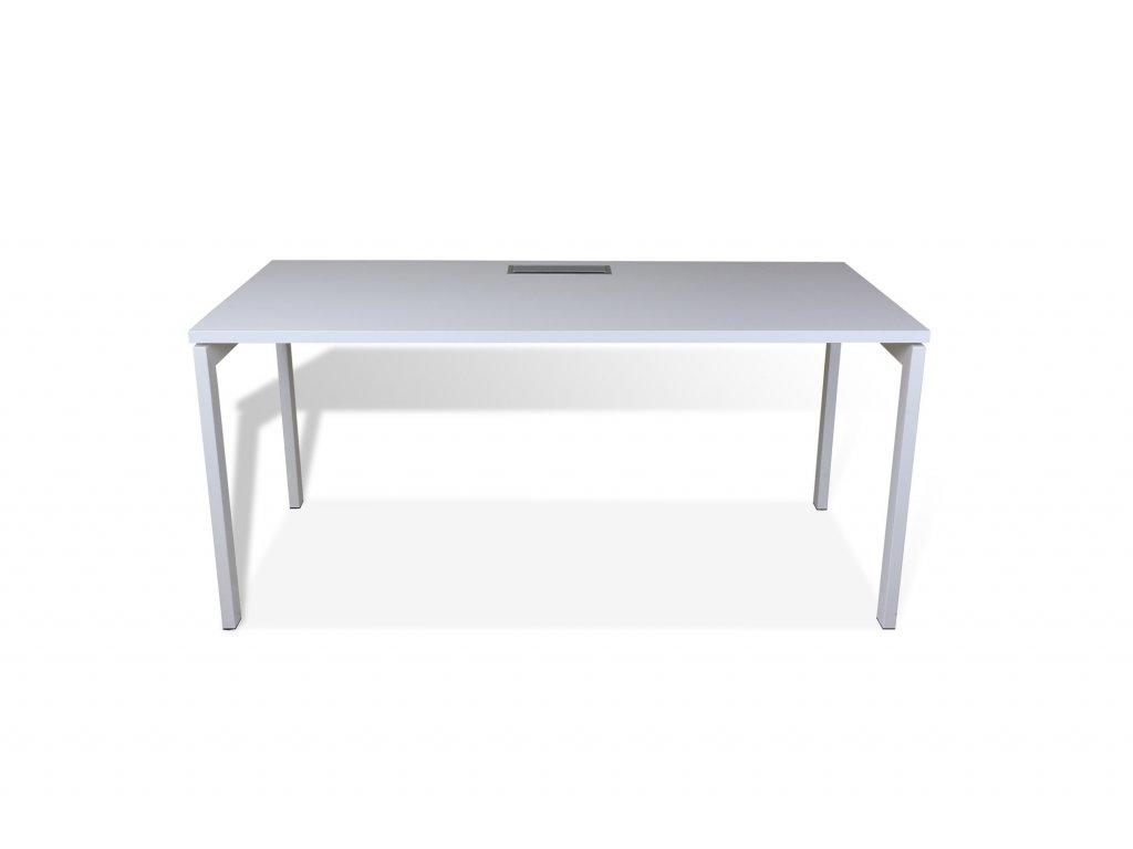 Stůl kancelářský MDD-OGI U, 160x80, bílý