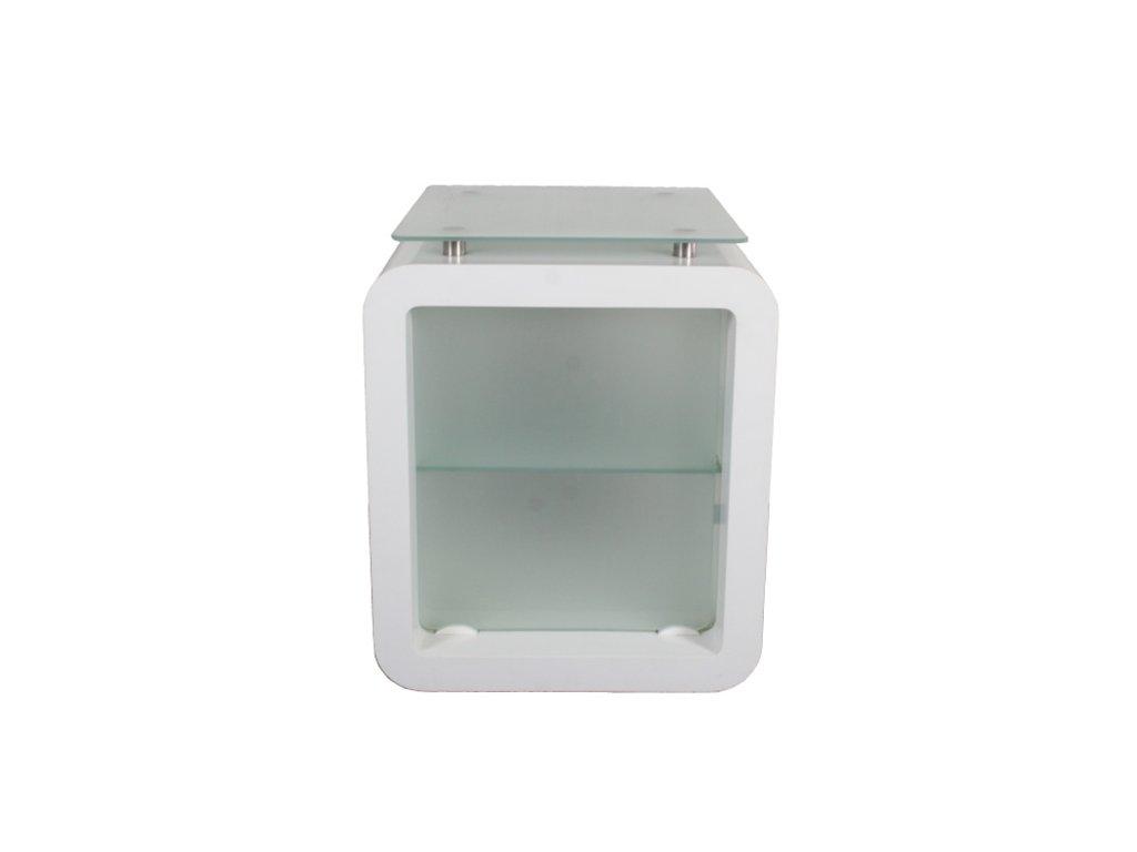 Konferenční stolek 84x70x70 bílá Corian