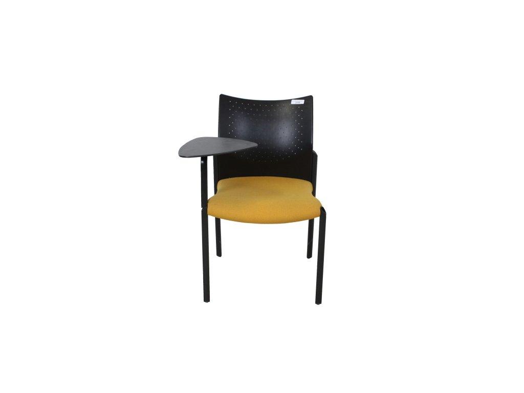 Židle konf. žlutá Herman Miller, bez stolku