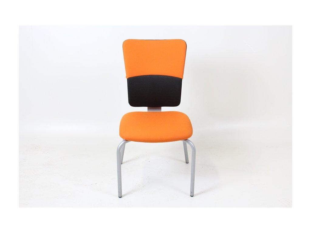 Židle konf. Steelcase oranžová