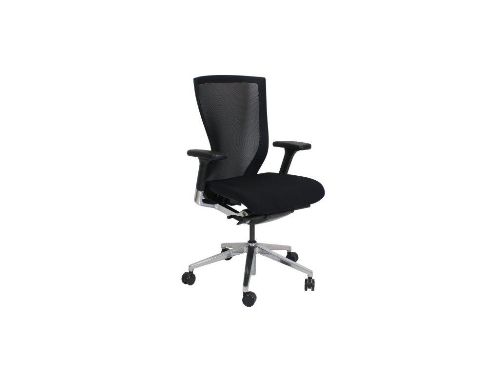 Židle kancelářská, Sidiz, černá/chrom,  područky, sít záda