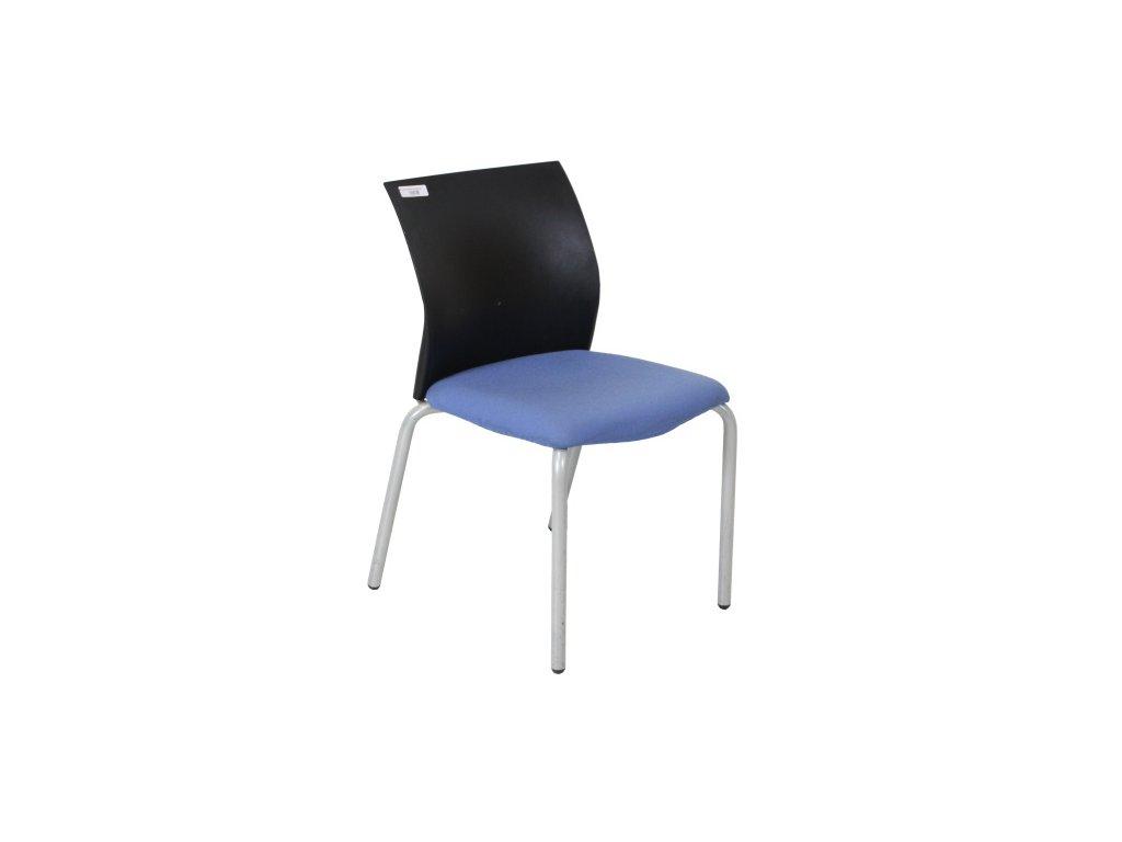 Židle konf. Steelcase černá/modrá