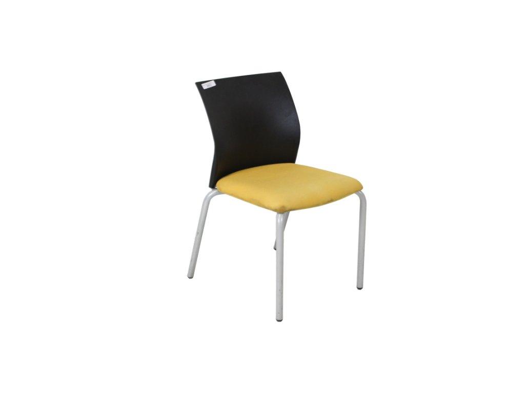 Židle konf. Steelcase černá/žlutá