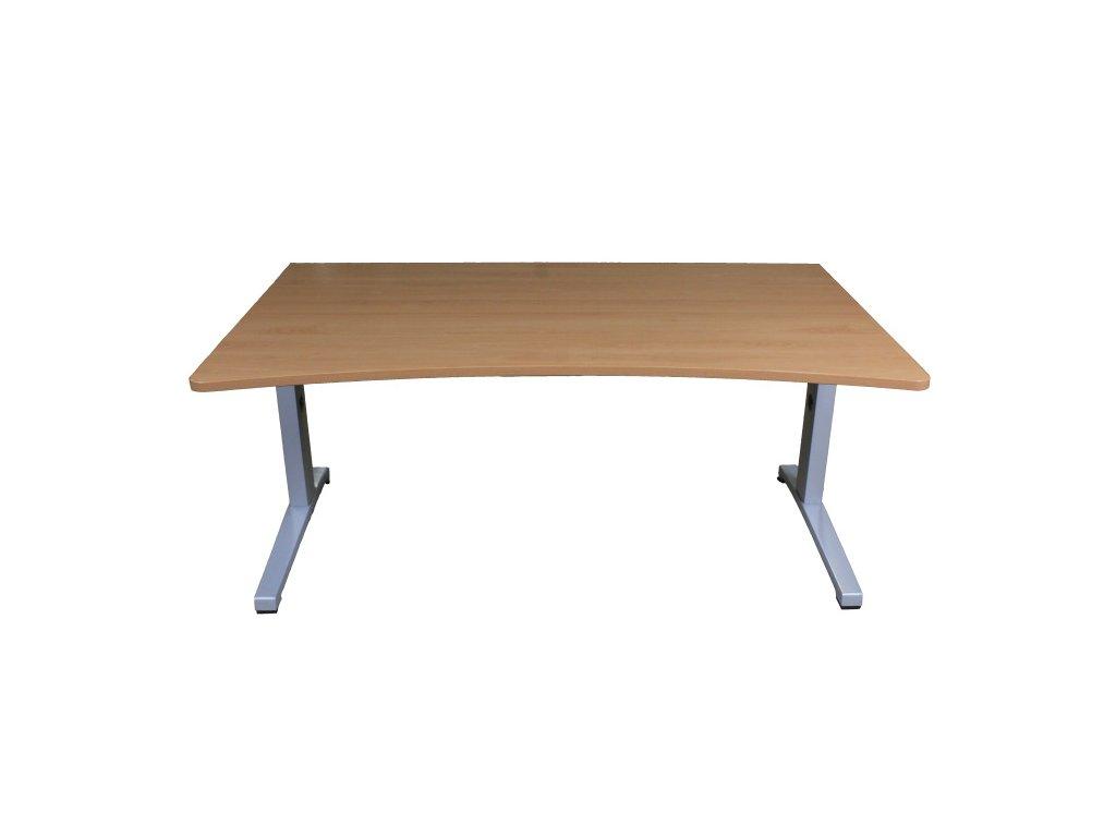 Stůl Steelcase ACTIVA 160x100/90 cm buk, v předu vykrojená deska