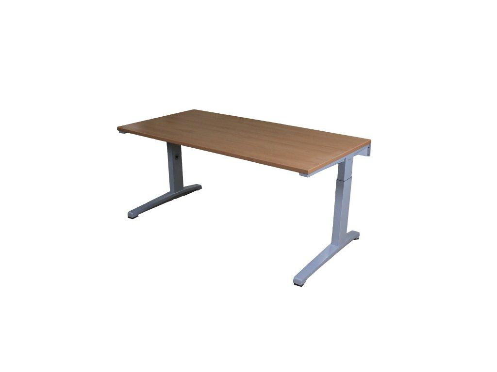 Výškově stavitelý stůl, Steelcase ACTIVA, 160x80 cm buk/šedá