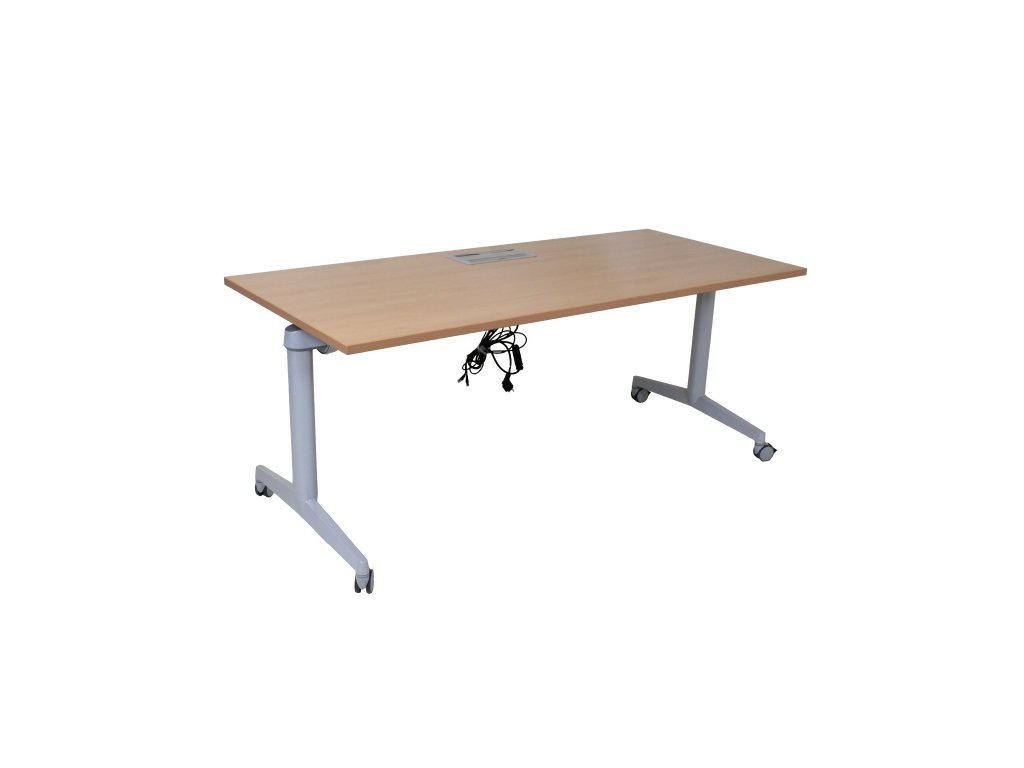 Stůl Steelcase Fliptop 180x80, s elektroboxem, buk