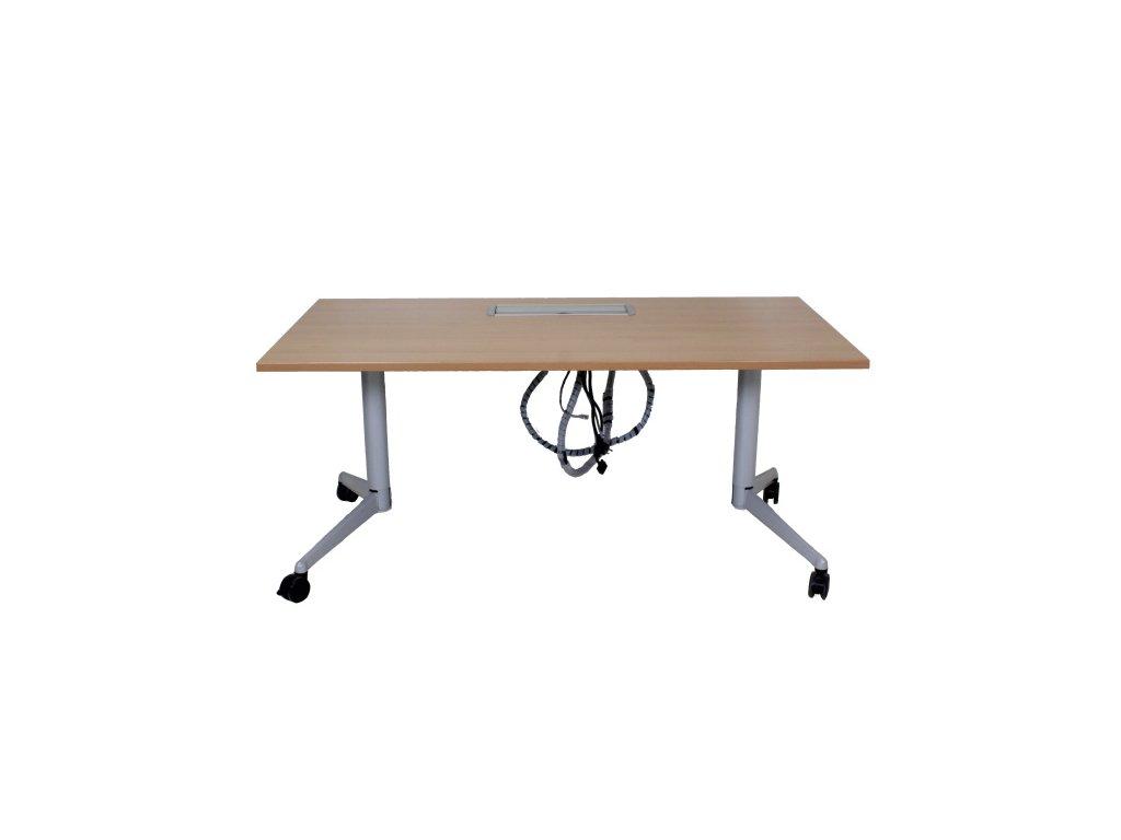 Stůl Steelcase Fliptop 160x80, s elektroboxem, buk