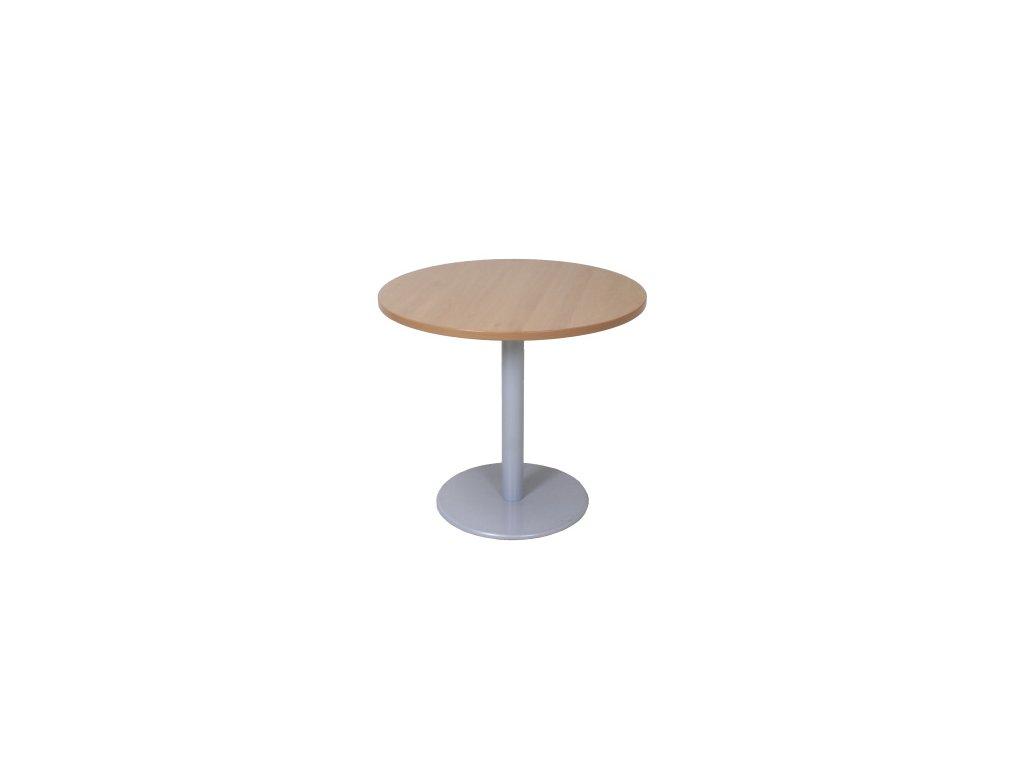 Konferenční stolek Steelcase O80cm buk/šedá